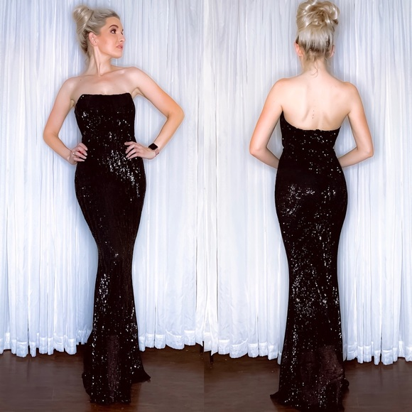 AmandaRSowards Dresses & Skirts - Black Sequin Fitted Pageant Prom Homecoming Dress